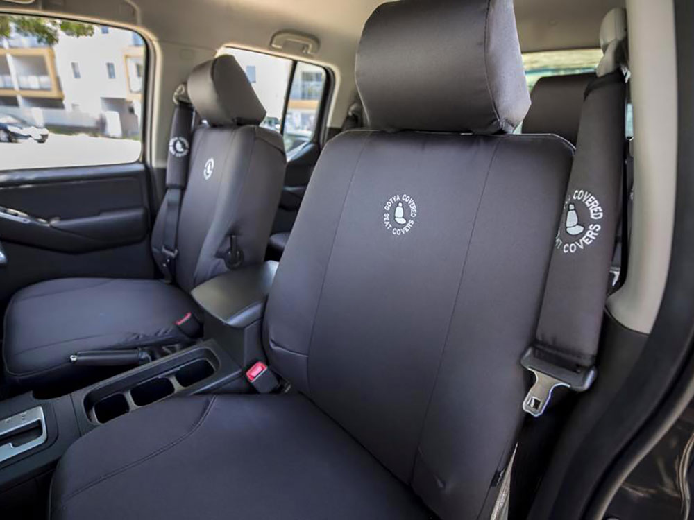 Nissan Navara STX front seat covers charcoal denim