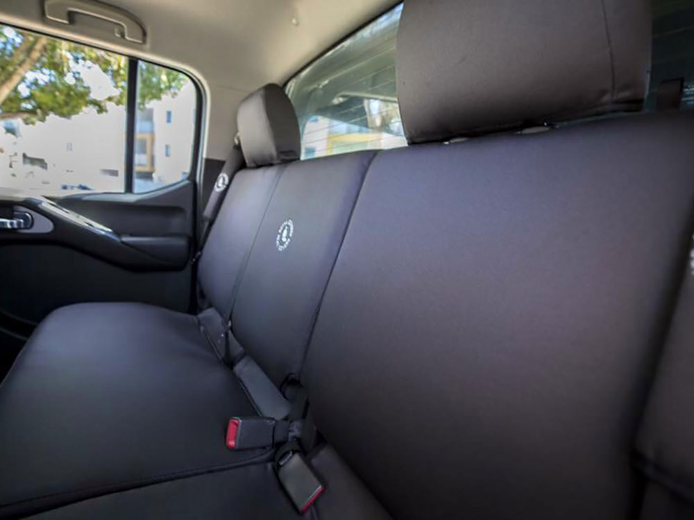 Nissan Navara STX rear seat covers charcoal denim