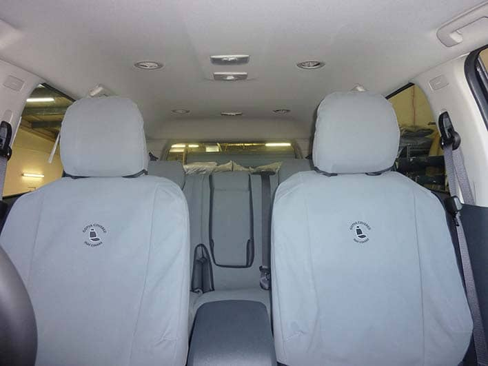 Holden Colorado 7 Front covers in flat grey canvas