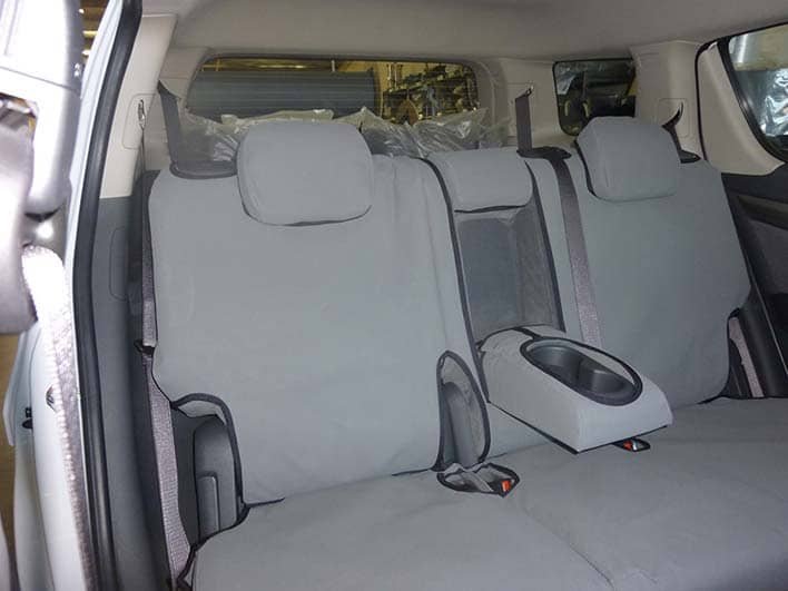Holden Colorado 7 rear flat grey canvas seat covers